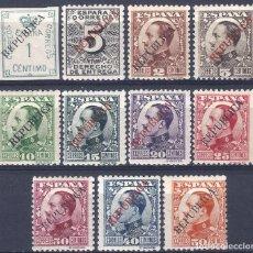 Sellos: EMISIONES LOCALES REPUBLICANAS. BARCELONA 1931. EDIFIL 18-28. MLH. LUJO. (SALIDA: 0,01 €).. Lote 288738733