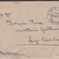 Sellos: CARTA DE SANTED A LAS CUERDAS ( ZARAGOZA ) MANUSCRITO POR DAROCA SELLO 686 MATASELLO FECHADOR. Lote 288875158