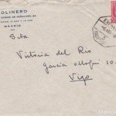 Sellos: CARTA DE MADRID A VIGO CON SELLO 687 MATASELLO AMBULANTE MADRID CORUÑA. Lote 288875563
