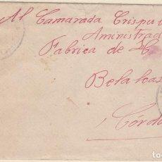Sellos: CARTA DE MADRID A BELALCAZAR CON SELLO 743 CON MATASELLO FECHADOR. Lote 288943418
