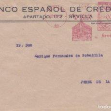 Sellos: SOBRE CON FRANQUEO MECANICO ORDINARIO DE BANESTO SEVILLA DE 1932. Lote 289326583