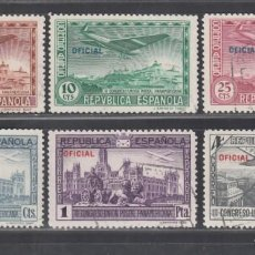 Sellos: ESPAÑA. 1931 EDIFIL Nº 630 / 635, CONGRESO DE LA UNIÓN POSTAL PANAMERICANA, OFICIAL.. Lote 289892338