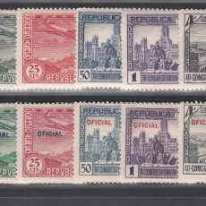 Sellos: ESPAÑA. 1931 EDIFIL Nº 614 / 619, 630 / 635 /*/, CONGRESO DE LA UNIÓN POSTAL PANAMERICANA,. Lote 289893408