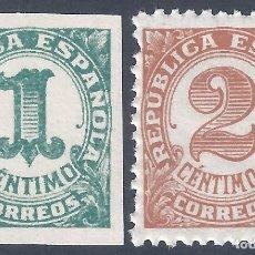 Sellos: EDIFIL 677-678 CIFRAS. 1933 ( SERIE COMPLETA). MNH ** (SALIDA: 0,01 €).. Lote 290073368