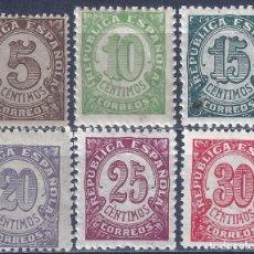 Selos: EDIFIL 745-750 CIFRAS. 1938 (SERIE COMPLETA). MNH **. Lote 290802673