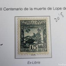 Sellos: SELLO DE ESPAÑA 1935 III CENTENARIO DE LA MUERTE DE LOPE DE VEGA 15 CTS EDIFIL 690. Lote 292125903