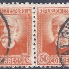 Francobolli: EDIFIL 671 PERSONAJES (NICOLÁS SALMERÓN) 1932. TIRA DE 4 SELLOS.. Lote 293228303