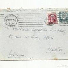 Sellos: CIRCULADA Y ESCRITA 1933 DE MADRID A BRUXELLES BELGICA. Lote 293622668