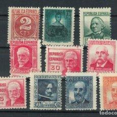 Sellos: RB.1.B2/ SPAIN 1936-38, CIFRA Y PERSONAJES, EDIFIL 731/40 **, CATALOGO 30,00 €. Lote 293825458