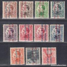 """Sellos: ESPAÑA. 1929 EDIFIL Nº 593 / 603 /*/, HABILITADOS, """" REPUBLICA ESPAÑOLA"""". Lote 293897818"""