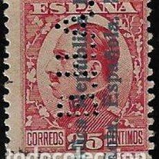 Sellos: II REPUBLICA - ALFONSO XIII SOBRECARGADO - EDIFIL 598 - 1931 - PERFORADO. Lote 293941913