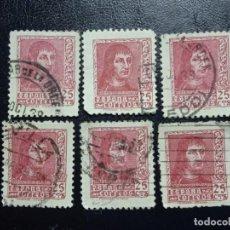 Sellos: AÑO 1938 FERNANDO EL CATOLICO 6 SELLOS EN USADOS EDIFIL 843. Lote 293944133