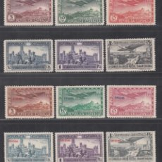 Sellos: ESPAÑA. 1931 EDIFIL Nº 614 / 619, 630 / 635, /*/, CONGRESO DE LA UNIÓN POSTAL PANAMERICANA,. Lote 294070723