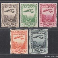 Sellos: ESPAÑA. 1931 EDIFIL Nº 650 / 654 /*/, CENTENARIO DEL MONASTERIO DE MONTSERRAT. Lote 294073898