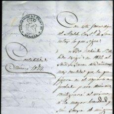 Sellos: GIROEXLIBRIS. MANUSCRITO DEL GOBIERNO DE LA PROVINCIA DE GERONA AL BARÓN DE CAÑELLAS EN 1851. Lote 294141898