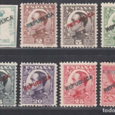 Sellos: ESPAÑA, EMISIONES LOCALES REPUBLICANAS, MADRID, EDIFIL Nº 1 / 8 /*/. Lote 294481808