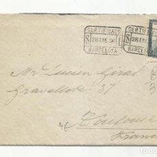 Sellos: CIRCULADA 1936 DE BARCELONA A TOULOUSE FRANCIA. Lote 295017138