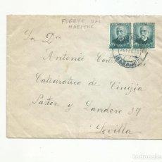 Sellos: CIRCULADA 1935 DE FUENTE DEL MAESTRE BADAJOZ A SEVILLA. Lote 295017458
