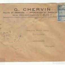 Sellos: CIRCULADA 1932 DE ARGEL ARGELIA A CARCAIXENT CARCAGENTE VALENCIA. Lote 295024248