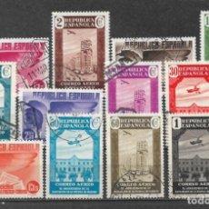 Francobolli: ESPAÑA 1936 EDIFIL 711/722 USADO - 5/34. Lote 295612558