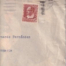Sellos: SOBRE CON SELLO PERFORADO SALUD DE FRUTA ENO. CONSERVA LA CARTA. FEDERICO BONET LABORATORIO FARMACIA. Lote 295622843