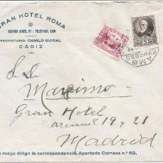 Sellos: ESPAÑA. II REPÚBLICA. AÑO 1932.CARTA CIRCULADA .. Lote 295701128