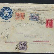Sellos: ESPAÑA - II REPÚBLICA. AÑO 1932. CARTA CIRCULADA MADRID - ITALIA.. Lote 295715768