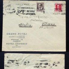 Sellos: II REPÚBLICA ESPAÑOLA. AÑO 1935. CARTA CIRCULADA ,MADRID-ITALIA. Lote 295730068