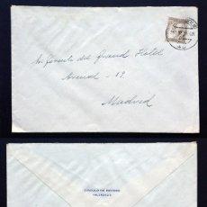 Sellos: II REPÚBLICA ESPAÑOLA. CARTA CIRCULACIÓN AÑO 1935.. Lote 295730593