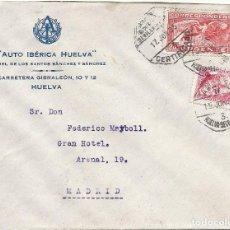 Sellos: II REPÚBLICA ESPAÑOLA. AÑO 1935. CARTA CIRCULADA; HUELVA-SEVILLA-MADRID.. Lote 295731303
