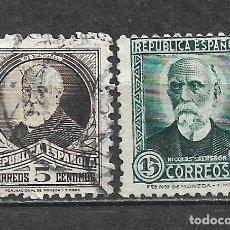 Francobolli: ESPAÑA 1932 EDIFIL 655 + 657 USADO - 5/29. Lote 295830208