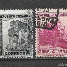 Sellos: ESPAÑA 1932 EDIFIL 673 + 674 USADO - 5/29. Lote 295830968