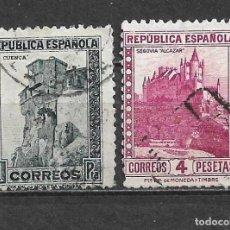 Sellos: ESPAÑA 1932 EDIFIL 673 + 674 USADO - 5/29. Lote 295830998