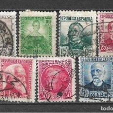Sellos: ESPAÑA 1933 - 1935 EDIFIL 681/688 USADO - 5/29. Lote 295975558