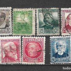 Sellos: ESPAÑA 1933 - 1935 EDIFIL 681/688 USADO - 5/29. Lote 295975573