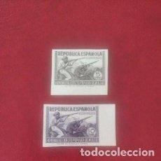 Sellos: 1938 ESPAÑA - MILICIAS - ED 792S/793S - MNH -5C Y 10C - VALOR 106 €. Lote 295980423