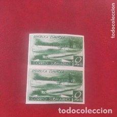 Sellos: 1938-ESPAÑA CORREO SUBMARINO SIN DENTAR .CON GOMA.(*) 776CCDS .BLOQUE DE 2. .. Lote 295980683