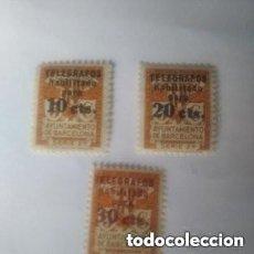 Sellos: 1934 BARCELONA - TELEGRAFOS -.SERIE COMPLETA. EDIFIL 4,5,6 - MNH - VALOR 213 €. Lote 295981363