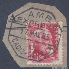 Sellos: EDIFIL 686 PERSONAJES (AZCÁRATE) 1935. MATASELLOS AMBULANTE EXPRESS CÁDIZ-SEVILLA 17-05-1935.. Lote 296593348