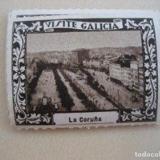 Sellos: VIÑETA VISITE GALICIA. 1929. LA CORUÑA. 5 X 4 CMS. LUIS CASADO FERNANDEZ FOT.. Lote 296691838