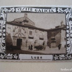 Sellos: VIÑETA VISITE GALICIA. 1929. LUGO. 5 X 4 CMS. LUIS CASADO FERNANDEZ FOT.. Lote 296691953