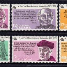 Sellos: ESPAÑA 2860/65** - AÑO 1986 - 5º CENTENARIO DEL DESCUBRIMIENTO DE AMERICA. Lote 296708498