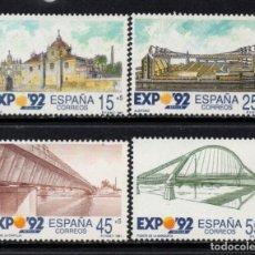 Sellos: ESPAÑA 3100/03** - AÑO 1991 - EXPO 92, EXPOSICION UNIVERSAL DE SEVILLA. Lote 296709768