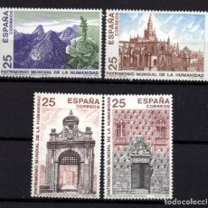 Sellos: ESPAÑA 3100/03** - AÑO 1991 - PATRIMONIO MUNDIAL DE ESPAÑA. Lote 296710093