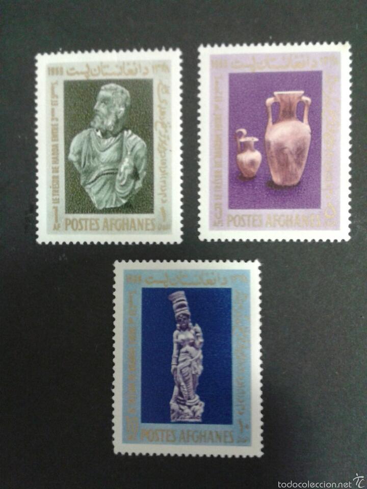 SELLOS DE AFGANISTÁN. ARQUEOLOGÍA. ESCULTURAS. YVERT 894/6. SERIE COMPLETA NUEVA CON CHARNELA. (Briefmarken - Internationale - Asien - Afghanistan)