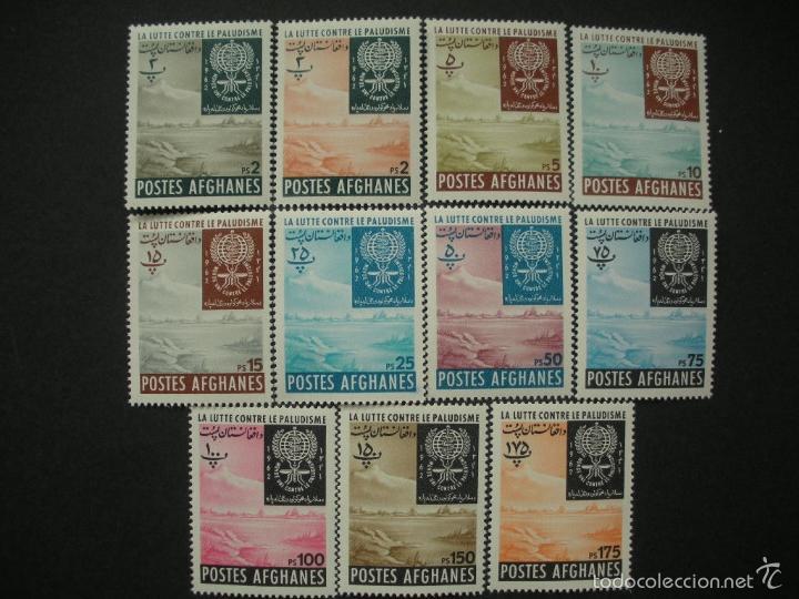 AFGANISTAN 1962 IVERT 644/54 *** ERRADICACIÓN DEL PALUDISMO (Sellos - Extranjero - Asia - Afganistán)