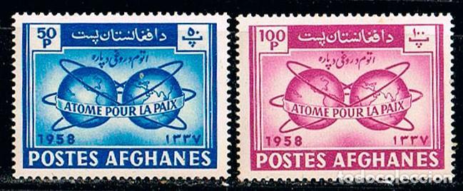 AFGANISTAN SCOTT Nº 463/4, ATOMOS PARA LA PAZ, NUEVOS CON CHARNELA (Sellos - Extranjero - Asia - Afganistán)