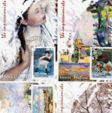 Sellos: AFGHANISTAN, 2001.EL IMPRESIONISMO . 4 S/SHEETS. *.MH (18-128). Lote 113857851