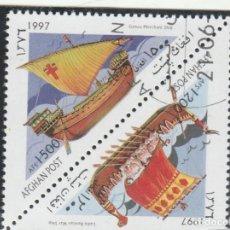 Sellos: AFGANISTAN 1997 - MICHEL NRO. 1744-45 - USADO MATASELLO DE FAVOR. Lote 115207827
