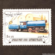 Sellos: SELLO USADO - (LOCOMOTORAS) AFGANISTAN 1998 0-4-0 SADDLE TANK (USA). Lote 123000714
